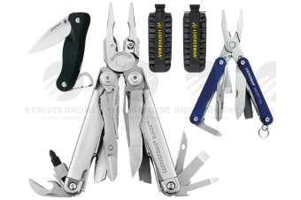 LEATHERMAN SURGE MULTITOOL + LEATHER SHEATH + BITKIT + CRATER C33 + SQUIRT PS4