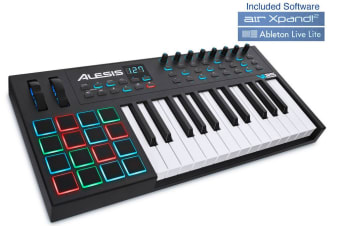 Alesis VI25 25 Key USB-MIDI Keyboard 16 RGB trigger Pads Music for Mac/Windows