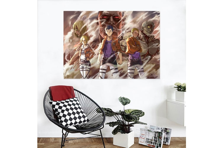 3D Attack On Titan 497 Anime Wall Stickers Self-adhesive Vinyl, 260cm x 150cm(102.3'' x 59'') (WxH)