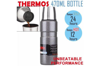 Thermos Stainless King Flask 470ml -  Vacuum Insulated Beverage Bottle