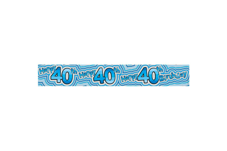 Expression Factory 40th Birthday Holographic Banner (Blue) (One Size)