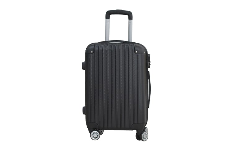 """24"""" Cabin Luggage Suitcase Code Lock Hard Shell Travel Case Carry On Bag Trolley  -  Black"""