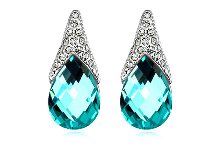 Gizelle Earrings Embellished with Swarovski crystals