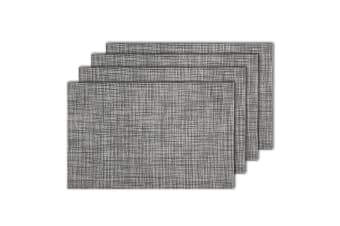 4pc Maxwell & Williams Crosshatch Placemat 45x30cm Dining Place Table Mat Grey
