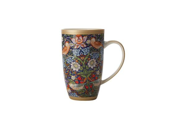 Maxwell & Williams William Morris Strawberry Thief Coupe Mug 420ml Blue