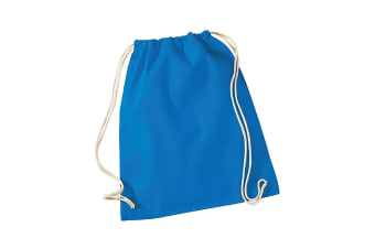 Westford Mill Cotton Gymsac Bag - 12 Litres (Sapphire Blue) (One Size)