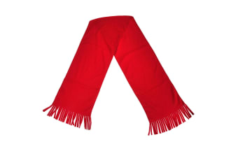 Result Adults Unisex Active Fleece Winter Tassel Scarf (Red) (One Size)