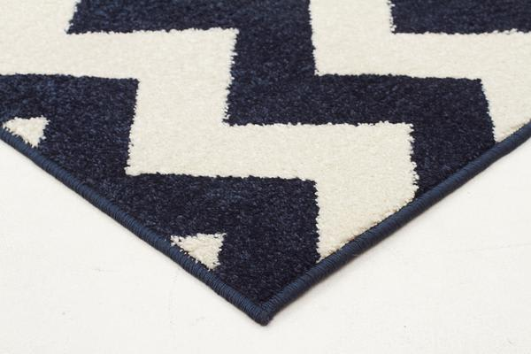 Indoor Outdoor Zig Zag Rug Navy 290x200cm