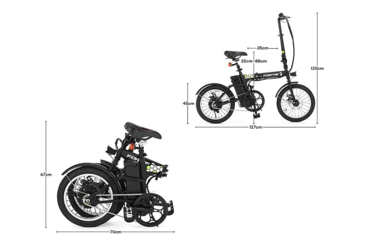 "Fortis 16"" 36V 8Ah Ultra Compact Foldable Electric Bike"