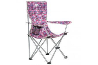 Trespass Childrens/Kids Joejoe Camping Chair With Carry Bag (Magenta Retro Tape)