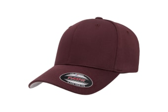 Flexfit Unisex Wooly Combed Cap (Maroon)