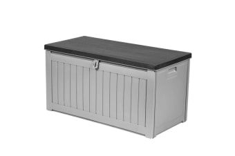 Gardeon Outdoor Storage Box Bench Seat Lockable Garden Deck Toy Tool Sheds 190L