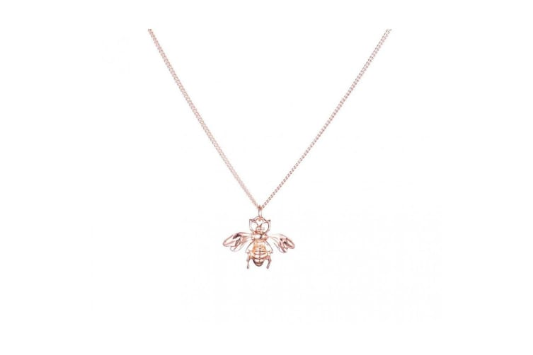 Fable Womens/Ladies Bee Pendant (Rose Gold) (One Size)