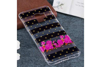 For Samsung Galaxy S9 PLUS Back Case Dot Striped Flower Durable Protective Cover