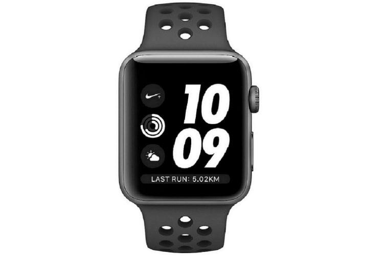 Apple Watch Series 3 Nike+ 38mm GPS Gray Aluminum Case Black Nike Sport Band