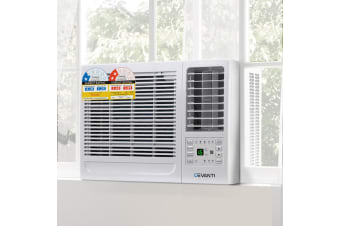 Devanti 4.1kW Window Air Conditioner Reverse Cycle Portable Wall Box Air Conditioners Refrigerated Cooler Cooling Heater Heating Swing Timer 3 Speeds Home Office