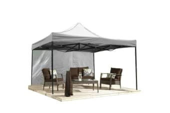 3x3m Pop Up Gazebo Folding Marquee in White