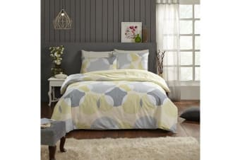 Park Avenue 250 Thread count 100 % Cotton Reversible Quilt Cover Set Queen Bed -  Alicia