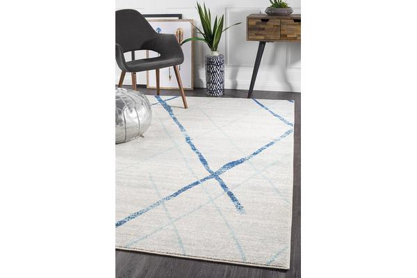 Amelia Blue & Bone Ivory Coastal Durable Rug 230x160cm