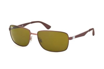 Ray-Ban RB3529 - Matte Brown (Brown lens) Mens Sunglasses