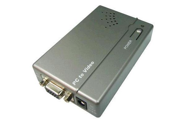 CYP VGA to S-Video/Composite Converter Supports high resolution PC input up to 1600x1200@60Hz.