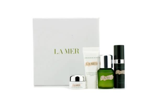La Mer Travel Set: Hydrating Infusion 15ml + Moisturizing Lotion 7ml + Radiant Serum 5ml + Eye Balm Intense 3ml (4pcs)