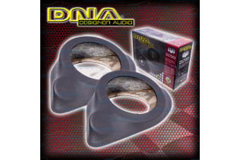 "DNA 152- 165MM 6"" -6.5"" CAR AUDIO STEREO SYSTEM SPEAKER SPACER PODS PAIR GREY"