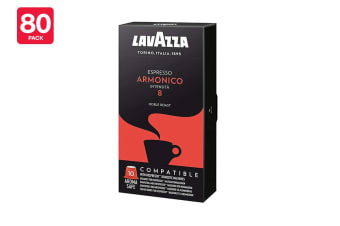 Lavazza A Modo Mio Nespresso Compatible Armonico Coffee Capsules - 80 Pack (8 Packs of 10)