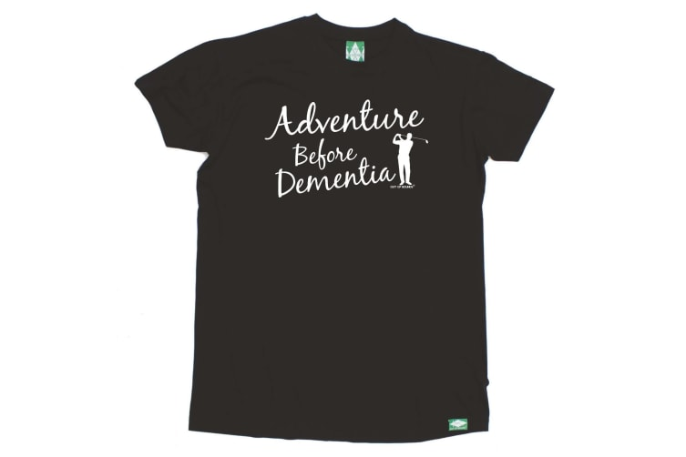 Out Of Bounds Golf Tee - Adventure Before Dementia Golf - (5X-Large Black Mens T Shirt)