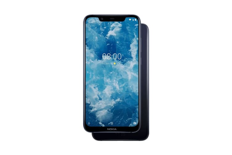 Nokia 8.1 (64GB, Blue Silver)