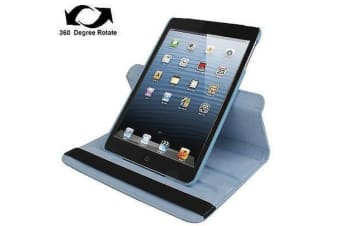 For iPad mini 1 / 2 / 3 Case  Durable High-Quality Leather Cover Baby Blue