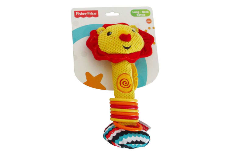 2x Fisher Price Long-Neck Squeaker Rattle Toy f/ Baby 0m+
