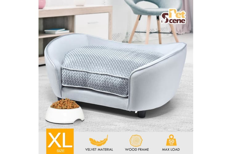 Pet Bed Soft Fleece Dog Cat Bed Sofa Couch Cushion Luxury Lounge Extra Large