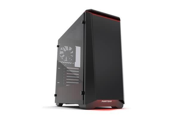 Phanteks Eclipse P400 Tempered Glass Mid Tower Case, Black/Red Edition (No PSU)
