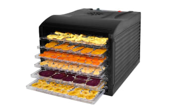 Healthy Choice 6 Tray Food Dehydrator - Black