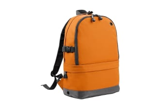 BagBase Backpack / Rucksack Bag (18 Litres Laptop Up To 15.6 Inch) (Pack of 2) (Orange) (One Size)