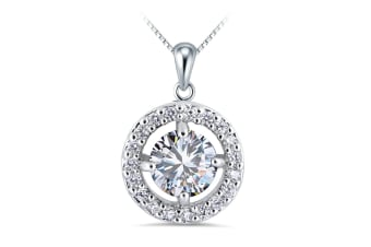 Fortune Necklace-White Gold/Clear