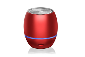 Select Mall Portable Mini Support Memory Card Bluetooth Wireless Speaker Mini Smart Audio Subwoofer-Red