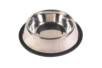 Trixie Heavy Weight Stainless Steel Dog Bowl (Silver) (1.75L)