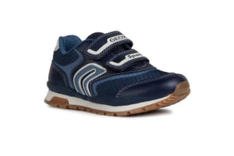 Geox Boys J Pavel A Touch Fastening Trainer (Navy/Avio) (1.5 UK)