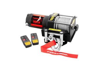 FIERYRED Wireless 3000LBS/1361KG 12V Electric Winch Steel Cable Boat ATV 4WD