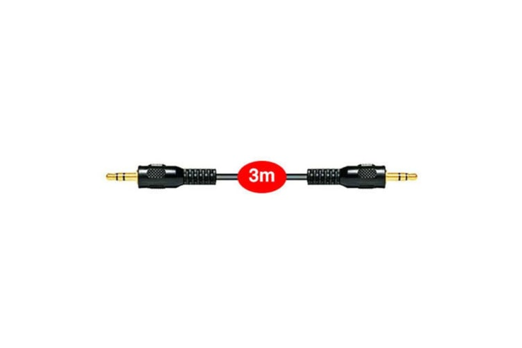3pc Sansai 3m Stereo AUX/Cable Audio 3.5mm Male to Male/Auxiliary Cord/Extension
