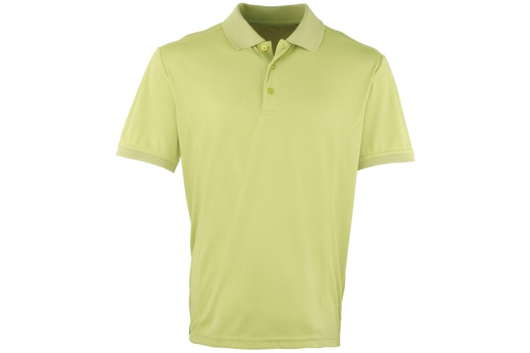 Premier Mens Coolchecker Pique Short Sleeve Polo T-Shirt (Lime) (3XL)