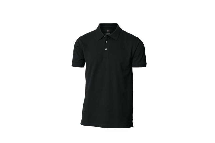 Nimbus Mens Harvard Stretch Deluxe Polo Shirt (Black) (XL)