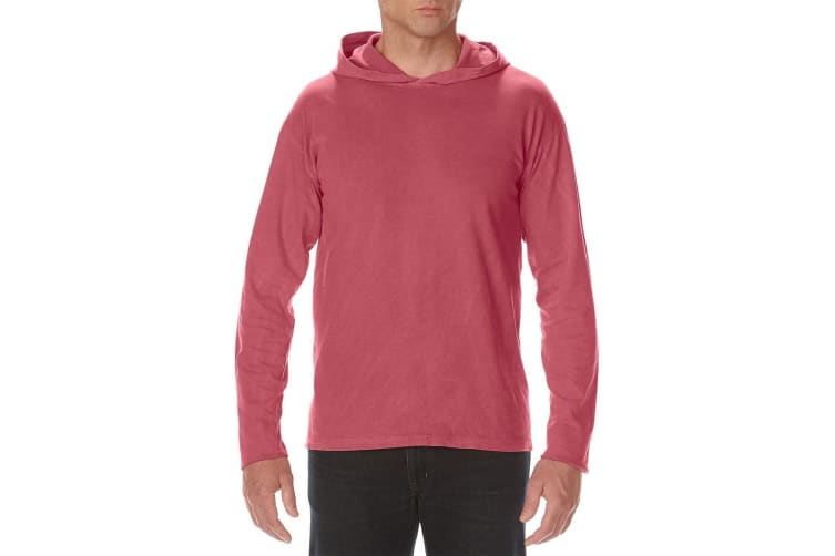 Comfort Colors Unisex Adults Heavyweight Hooded Tee (Crimson) (XXL)