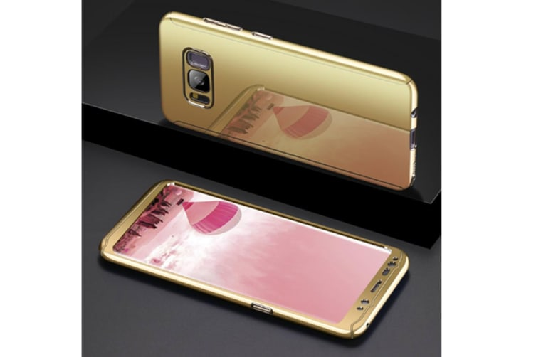 Mirror Cover Full Protective Scratchproof Flip Stand Case Shell For Samsung Gold Samsung Note8