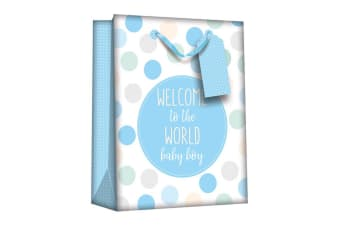 Iparty Baby Shower Gift Bags (Pack Of 6) (Baby Boy) (One Size)