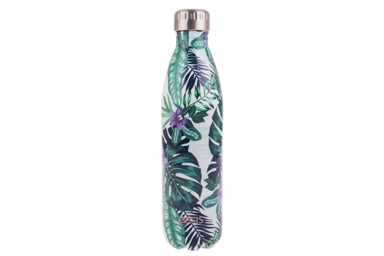 Oasis 750ml Double Wall Insulated Drink Water Bottle Vacuum Flask Trop Paradise