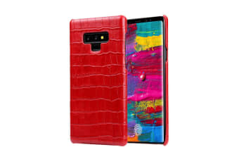 For Samsung Galaxy Note 9 Case Crocodile Genuine Leather Mobile Phone Cover Red