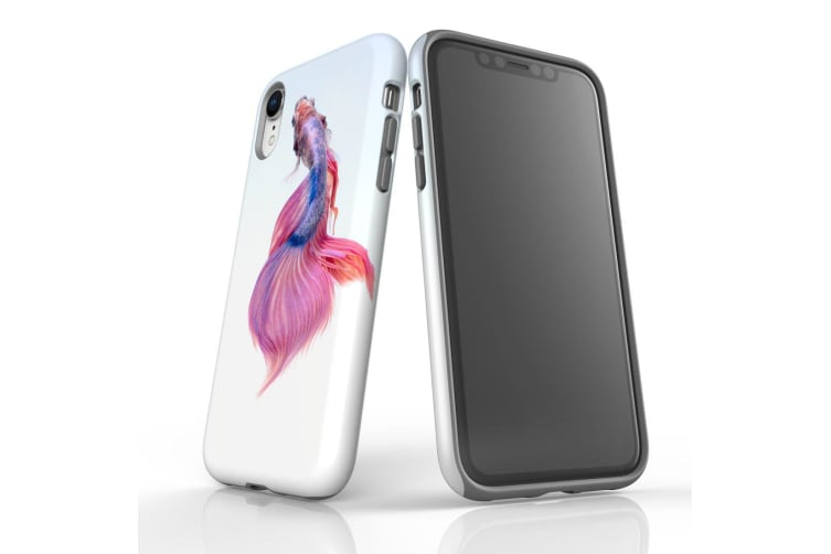 For iPhone XR Case  Protective Back Cover  Siamese Fighting Fish